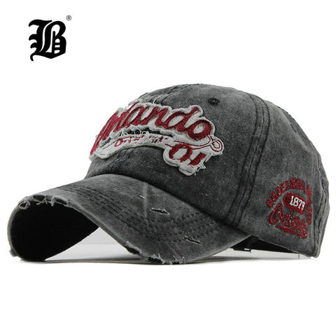 [FLB] Brand Men Baseball Caps Dad Casquette Women Snapback  Bone Hats Vintage Gorras Letter Cotton F111