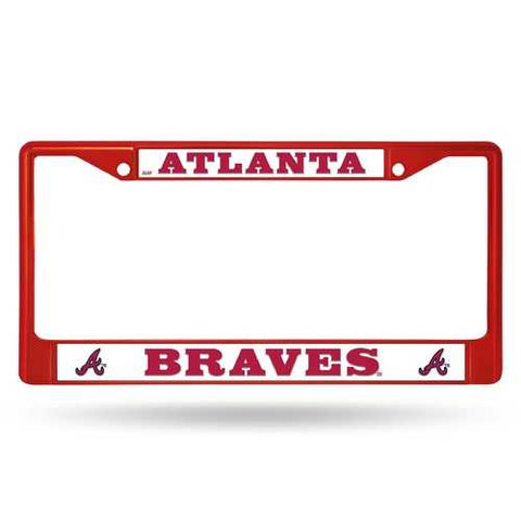 Atlanta Braves License Plate Frame Metal