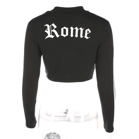 Women's Cropped Long Sleeve Turtleneck Pullover
