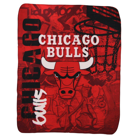 Chicago Bulls Snuggle Buddy 50x60 Fleece Basketball Blanket - Team Spirit Store USA