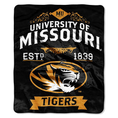 Missouri Tigers Raschel Label 50x60 Throw Blanket