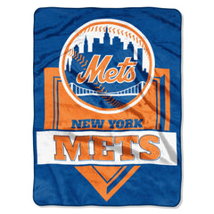 New York Mets Home Plate 60x80 Throw Blanket