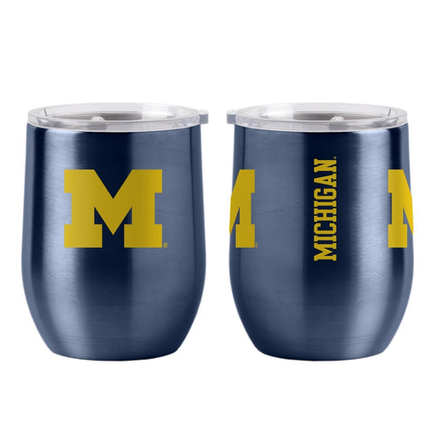 Michigan Wolverines Travel Tumbler 16oz Ultra Curved Beverage