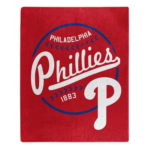 Philadelphia Phillies Blanket 50x60 Raschel Moonshot Design