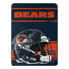 Chicago Bears Helmet Art 46x60 Micro Raschel Throw Blanket
