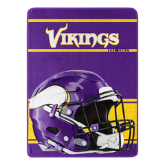 Minnesota Vikings Blanket 46x60 Micro Raschel Run Design Rolled