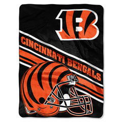 Cincinnati Bengals Slant 50x80 Throw Blanket