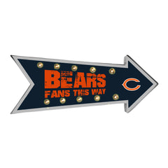 Chicago Bears Sign Running Light Marquee