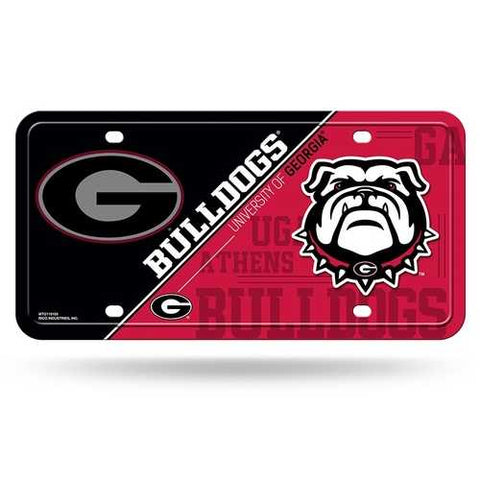 Georgia Bulldogs License Plate Metal