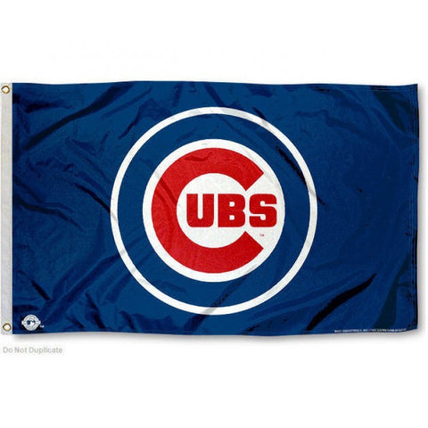 Chicago Cubs Blue Logo 3x5 Flag