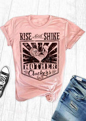 Rise and Shine Mother Cluckers Women's Short Sleeve T-Shirt