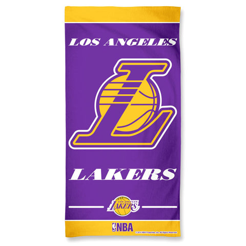 Los Angeles Lakers Showtime 30x60 Premium Beach Towel