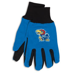 Kansas Jayhawks Two Tone Gloves