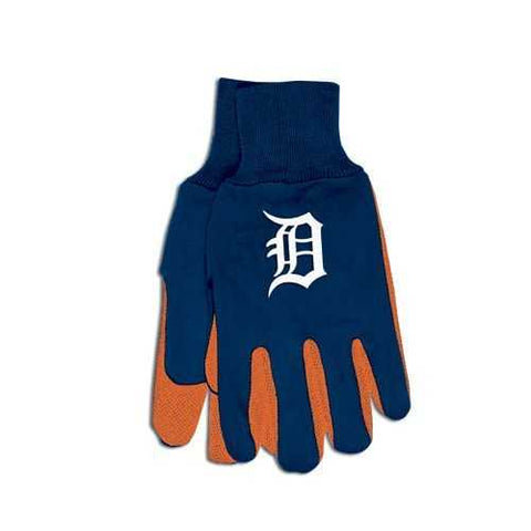 Detroit Tigers Two Tone Gloves Adult Size