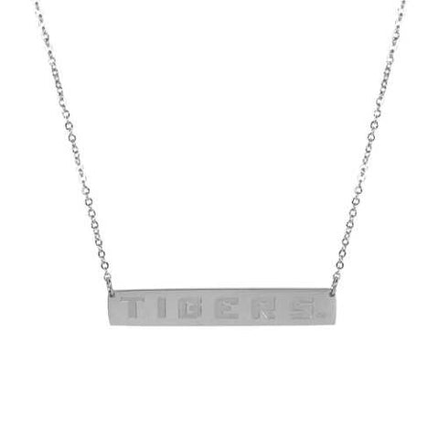LSU Tigers Chain Bar Necklace