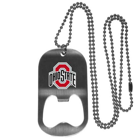 Ohio State Buckeyes Bottle Opener Tag Necklace