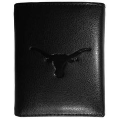 Texas Longhorns Embossed Leather Trifold Wallet