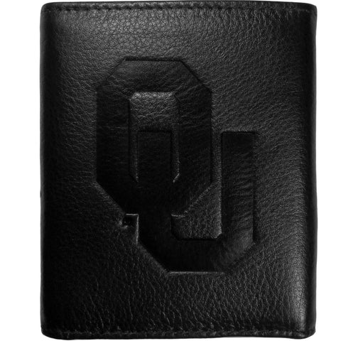 Oklahoma Sooners Leather Embossed Trifold Wallet
