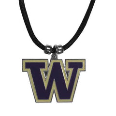 Washington Huskies Logo Cord Necklace