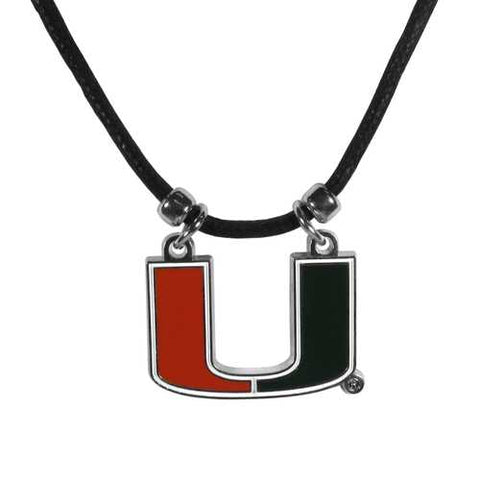 Miami Hurricanes Cotton Cord Necklace