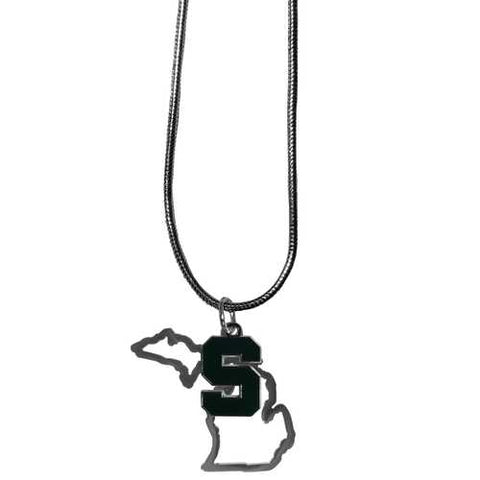 Michigan State Spartans State Charm Necklace