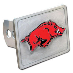 Arkansas Razorbacks Hitch Cover Class II and Class III Metal Plugs