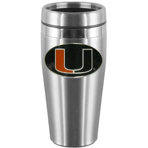 Miami Hurricanes Stainless Steel Travel Mug 14 oz