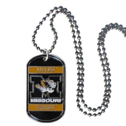 Missouri Tigers Dog Tag Necklace