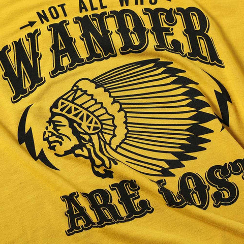 Who Wander are Lost Casual Short Sleeve Printed Tee