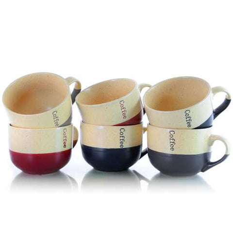 Elama Latte Loft 6-Piece 18 oz Mug Set