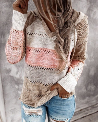 Women's Autumn Winter Long Sleeve Knitted Sweater