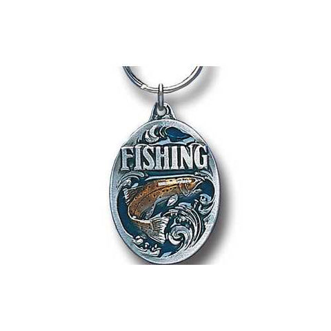 Fishing Me Premium Enameled Key Chain