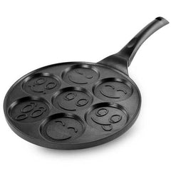 MegaChef Happy Face Emoji 10.5 Inch Aluminum Nonstick Pancake Maker Pan