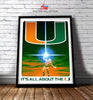 Image of Miami Hurricanes The Last Canes 24x36 Limited Edition Football Poster - Team Spirit Store USA