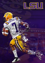 LSU Tigers Tyrann Mathieu Playmaker 18x24 Signed Poster