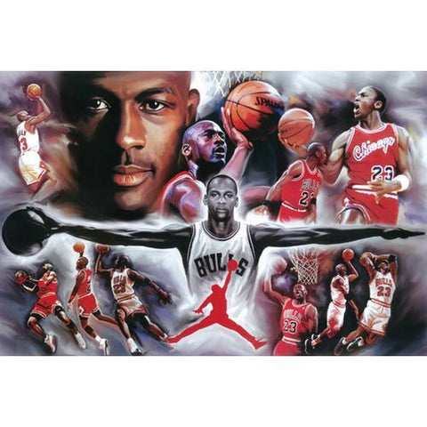 Chicago Bulls Michael Jordan Collage 24x36 Premium Poster