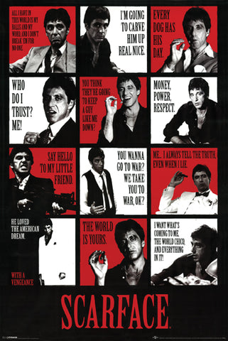 Scarface Collage 24x36 Premium Poster