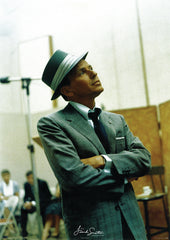 Frank Sinatra In the Studio 24x36 Premium Poster