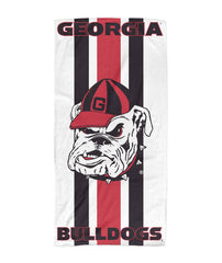 Georgia Bulldogs Grunge Beach Towel 30x60