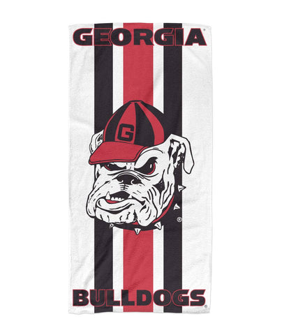 Georgia Bulldogs Grunge Beach Towel 30x60 - Team Spirit Store USA