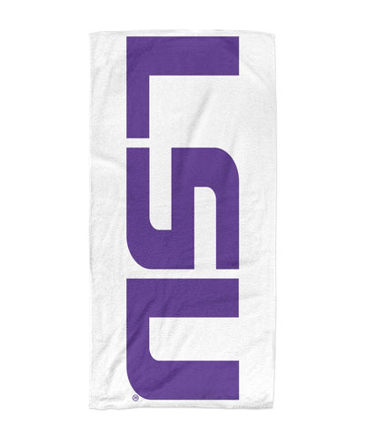LSU Tigers Beach Towel 30x60
