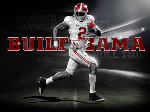 Alabama Crimson Tide Built by Bama Poster