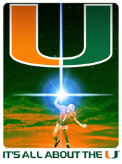 Miami Hurricanes The Last Canes 24x36 Limited Edition Football Poster