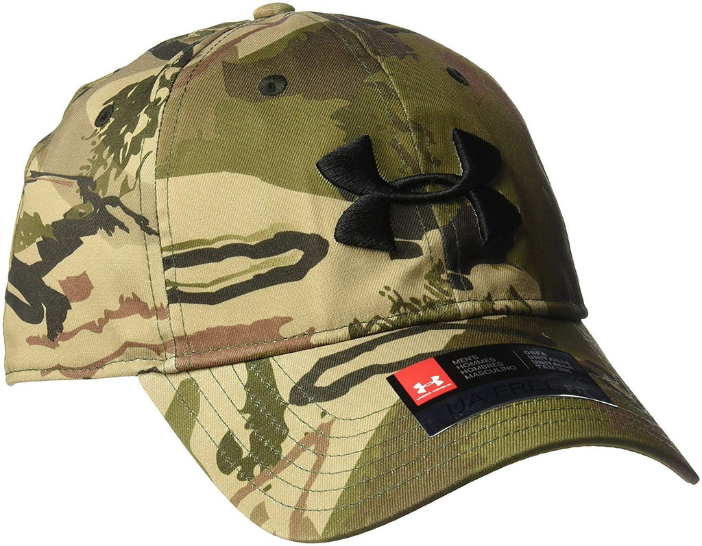 Under Armour Mens Camo Cap 2.0 Ridge Reaper Barron   Black OSFM ... ba66616d862e