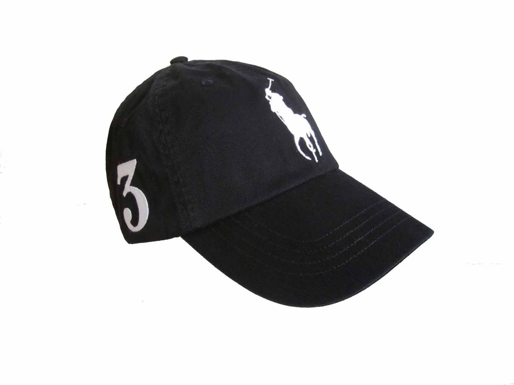 82a51c402ec7e Polo Ralph Lauren Big Pony Classic Sports Cap Black with Leather Strap