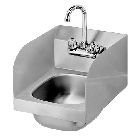 12-inch Commercial Stainless Steel Hand Sink with Side Splashes