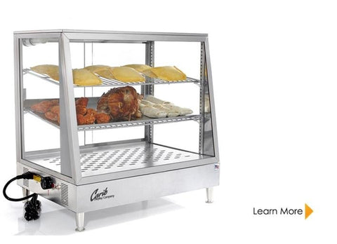 CARIB CounterTop Display Warmers, Up to 195F Degrees, 110v