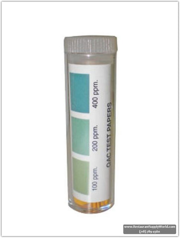 Krowne 25-124 Bottle of 100 QAC Test Strips, 0-500 ppm 25-124-100