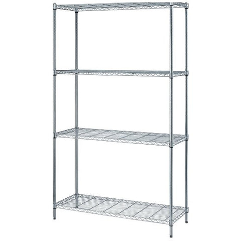 300-lb Capacity Chrome Wire Shelving 4-Shelf Set!  NSF-Certified!!