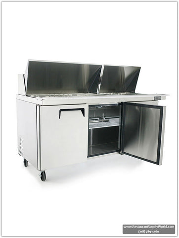 "ATOSA 72"" Mega-Top Bain Marie/Prep Table MSF8308GR"